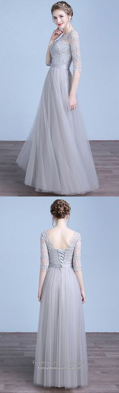 Long Prom Dresses with Sleeves,Silver Formal Evening Dresses A-line,Modest Military Ball Dresses Lace,Simple Wedding Party Dresses For Cheap Modest Formal Dresses, Sparkly Prom Dresses, Vintage Formal Dresses, Simple Prom Dress, Formal Dresses For Teens, Best Prom Dresses, Prom Dresses With Sleeves, Formal Evening Dresses, Ball Dresses