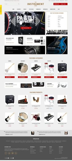 Instrument - Responsive OpenCart Theme for Musical Instrument Store