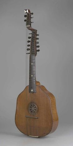 Arch-cittern (syron) 1757 Remerus Liessem, English, active about 1750–1760 London, England
