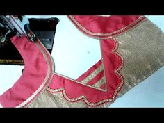 easy designe blouse cutting and stitching at home - YouTube