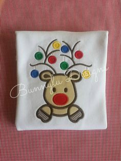 Hey, I found this really awesome Etsy listing at https://www.etsy.com/listing/213638172/christmas-clothes-appliqued-baby-deer