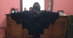 Hotel Transylvania, Mavis, daughter, Wings, Hallowen Costume, How to make, Dracula, Bat Wings