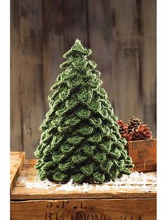 Crocodile Knit Christmas Tree pattern (if you want) but there is also a video showing you how to knit crocodile stitch. Christmas Tree Knitting Pattern, Crochet Christmas Trees, Unique Christmas Trees, Christmas Crafts, Xmas Tree, Handmade Christmas, Free Knitting, Knitting Patterns, Crochet Patterns