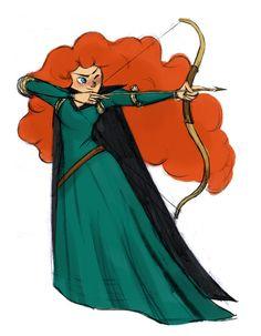 Mom it's just my bow! Brave Movie, Brave 2012, Disney Fan Art, Princess Zelda, Disney Princess, Merida, Ghibli, Girl Hairstyles, Celtic