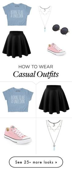 """""""Casual"""" by anjiew on Polyvore featuring Converse"""