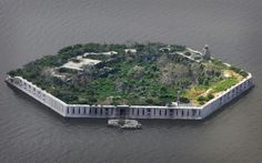 Fort Carroll, near Baltimore is an artificial island fort begun in 1848. It was officially abandoned by the US army in 1921 and is still abandoned. More: http://en.wikipedia.org/wiki/Fort_Carroll