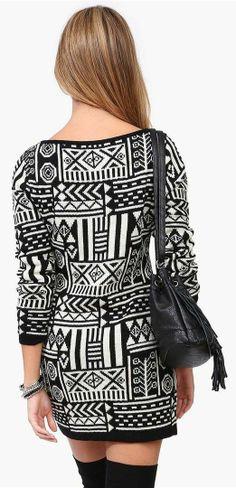 Tribal Sweater Dress <3