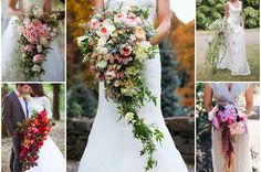 20+stunning+cascading+bouquets
