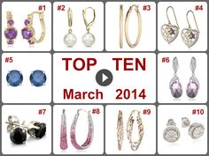 TOP 10 Amazing Deals on Earrings (March 2014).  Learn more https://www.facebook.com/AmazingDailyDealsSite