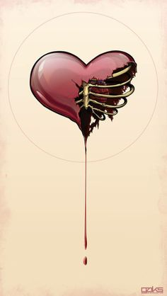 Skull Heart.. this would be an awesome tattoo
