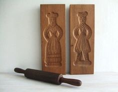 vintage Dutch wood gingerbread molds wall decor by seaglassvintage