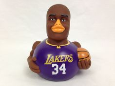 Celebriducks Lakers Shaquille O' Neal Number 34 Celebrity Duck First Edition #LosAngelesLakers