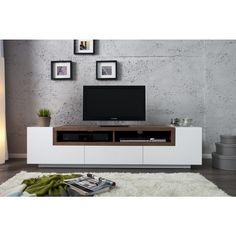 TV meubel empire walnoot wit - 30139