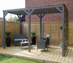 Such a beautiful place to be on a summer's day. the Urban Garden Pergola is part of a new range of contemporary structures from Grange.