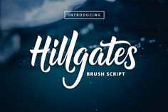 Introducing Hillgates Hand Brush  Script Font, Come help you in terms of typography and lettering. For  Reviews those of you who want a different font and classy and create  something like you would expect.  Font It Has a lot of variation in the OpenType features such as  uppercase, lowercase, stylistic alternate, contextual alternate,  ligature, numerals and punctuation and others that make it so very  interesting font.