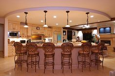 Good family room and kitchen