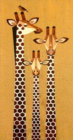 Giraffe Family 2 commissioned painting Acrylic on canvas 12 x 24 Giraffe Drawing, Giraffe Painting, Giraffe Art, African Art Paintings, Animal Paintings, Animal Drawings, Illustrations, Illustration Art, Giraffe Pictures