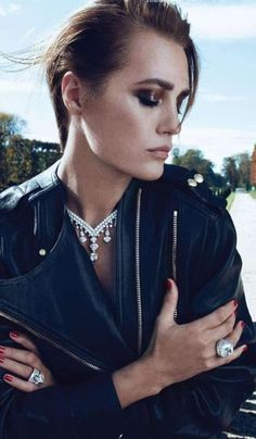 Luxe jewels with leather.