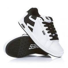 Etnies Fader Skate Shoes White Wash