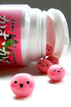 Happy Gum Balls Android Wallpaper HD Objet Kawaii Cute Japanese Candy