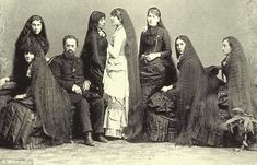 Girls, let down your hair: The seven Sutherland Sisters, Sarah, Victoria, Isabella, Grace, Naomi, Mary and Dora photographed with their father Reverend Fletcher