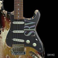 Stevie Ray Vaughan's Number One Number One was a 1962/63 Fender Stratocaster used by Vaughan for most of his career. Vaughan used the guitar on all five of his studio albums and on Family Style. Fender Stratocaster, Fender Guitars, Guitar Art, Cool Guitar, Stevie Ray Vaughan Guitar, Much Music, Best Vibrators, Playing Guitar, Electric Guitars