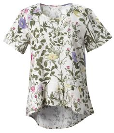Braintree Amelie Top - Braintree Thoughtful Clothing - An eco-friendly peplum top made from a blend of Tencel and organic cotton featuring an intricate botanical print. #Organic #Sustainable #EcoFriendly
