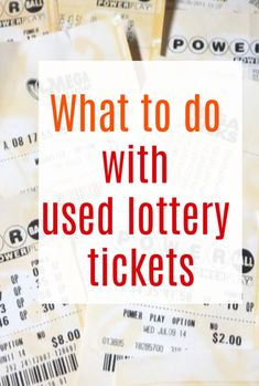 What to Do With Your Used Lottery Tickets. Find out if you can recycle the and check out a host of fun and cretaive ways you can use them Life On A Budget, Family Budget, Scratch Off Tickets, Easy Homemade Gifts, What Happened To Us, Book Spine, Lottery Tickets, Famous Words, Poetic Justice