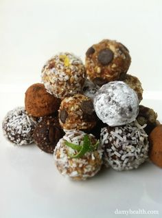 Healthy Truffles, Chocolates, and Raw Cookies. Oh my goodness! These will  be my new favorite things