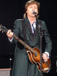 Paul McCartney performing in Boston. I loved hearing him live, It was a spectacular concert,  he has still got it, after all those years.