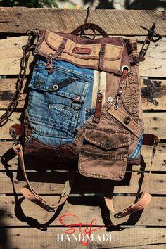 Denim Backpack, Denim Tote Bags, Duffle Bags, Rucksack Backpack, Messenger Bags, Bags Travel, Travel Backpack, Military Fashion, Military Style