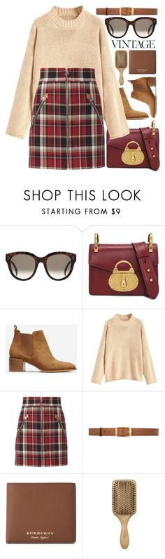 """22:00"" by monmondefou ❤ liked on Polyvore featuring Prada, Everlane, rag & bone, STELLA McCARTNEY, Burberry, red and beige"