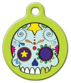 Dog Tag Art Custom Pet ID Tag for Dogs - Dia de los Muertos - Small - .875 inch *** Don't get left behind, see this great  product (This is an amazon affiliate link. I may earn commission from it)