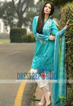 New Lawn Designs Pakistani 2014 by Sobia Nazir   by www.dressrepublic.com