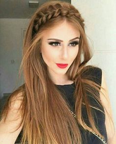 Half up hairstyles 2018 for the prom. - neuesteHaarmodelle - - Half up Frisuren 2018 für den Abschlussball. Hairstyles 2018 Half up hairstyles 2018 for the prom.Gorgeous Braided Rope Headband Long Hairstyles 2017 – 2018 for Fine HairLuce hermosa c Straight Prom Hair, Straight Hairstyles Prom, Bridesmaid Hair Straight, Straight Hair With Braid, Long Hair Styles Straight, Braid Front Of Hair, Short Prom Hair, Straight Haircuts, Short Haircuts