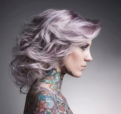 medium length pastel purple hair #hair #purple