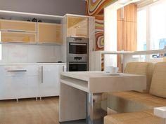 Дизайн интерьера                                       кухни. Однокомнатная квартира.                                       ул.Косарева
