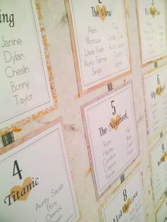 Peach and Grey inspired table seating plan.