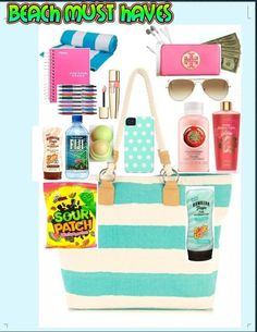 Beach Bag Essentials | 23 Summer Beach Essentials for Teens Bags that everyone should have!