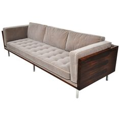 Milo Baughman Rosewood Case Sofa | From a unique collection of antique and modern sofas at http://www.1stdibs.com/furniture/seating/sofas/