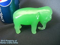 Chinese Elephant Standing Guardians Ming Dynasty Green Jade Glass Rare OOAK New by HerbsCraftsGifts