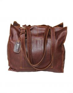 Buy it from - an online gift and decor boutique. Brown Leather Totes, Dark Brown Leather, Handbag Accessories, Fashion Accessories, Online Gifts, Gifts For Women, Messenger Bag, Satchel, Africa