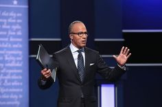 Oh hey Lester Holt was at the presidential debate too