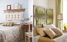 Decoración de dormitorios con cabeceros de cojines  |  DECOFILIA.com