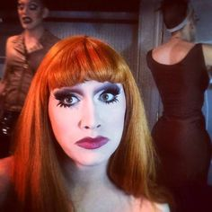Jinkx Monsoon w/ Sharon Needles and Alaska in the background