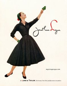 Jonathan Logan 1955....I could not wait to find those Jonathan Logan dresses...and to find on on sale!!! well!!! heaven