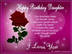 For my beautiful daughter daisy happy birthday wish card birthday wishes for daughter m4hsunfo