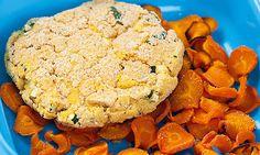 Esta receita de hambúrguer de grão é uma excelente alternativa para as crianças, que nem sempre é fácil convencer a comer leguminosas.