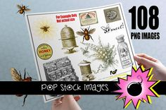 Bees & Beekeeping Digital Images for Scrapbooking by popstock, $12.50