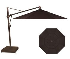 13' Walnut Octagonal Cantilever with Bronze Frame - Cantilevers - The Great Escape